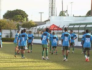 Francana treina para estreia na Copinha  (Foto: Reprodução EPTV)
