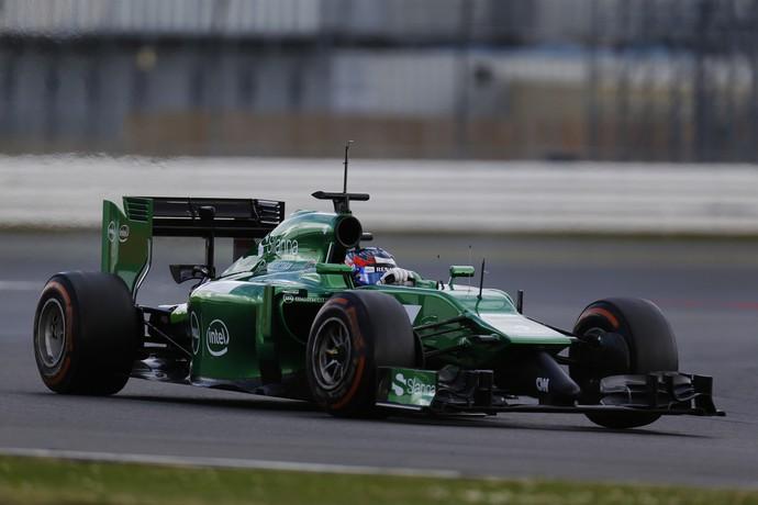 Will Stevens em teste pela Caterham em Silverstone, 2014 (Foto: Divulgação)