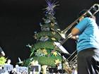 Lançamento de decoração natalina é cancelado após chuva em Manaus