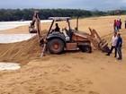 Máquinas abrem a foz do Rio Jucu (Reprodução/ Facebook)
