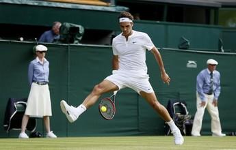 """Após fazer """"mágica"""" em Wimbledon, Federer diz: """"Que bom que deu certo"""""""