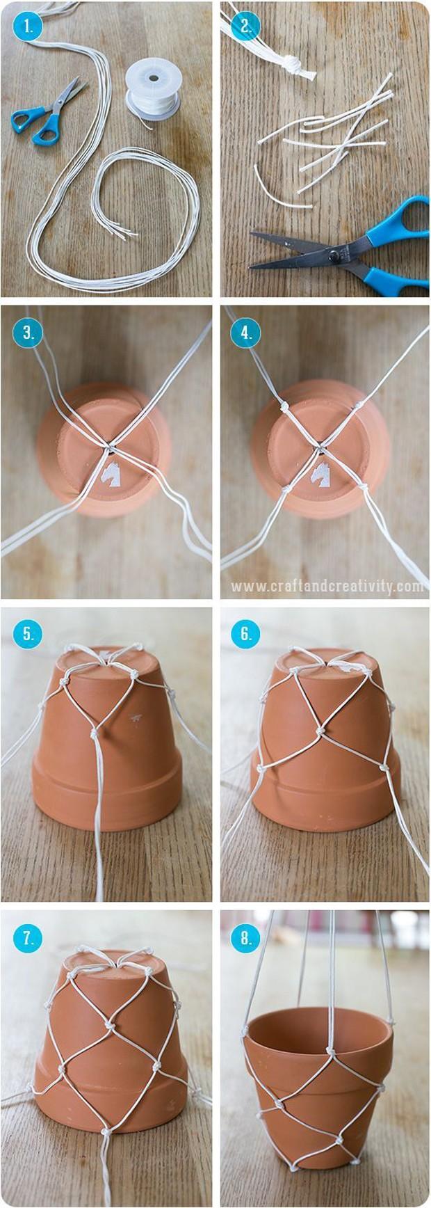 Rede para vaso (Foto: Reprodução/Pinterest)