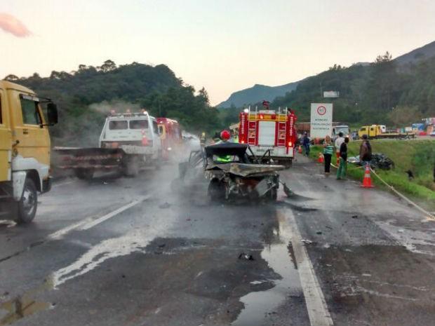 Acidente envolveu oito veículos  (Foto: Rosilda Schmidt / Arquivo pessoal )