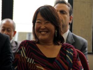 Presidente da Câmara, Amélia Naomi (PT),  (Foto: Carlos Santos/G1)