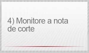 4 - monitore a nota de corte (Foto: G1)