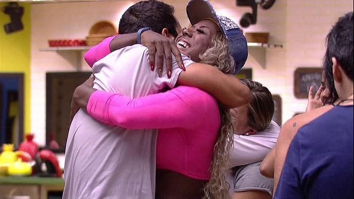 Encontro candidatos e brothers Tarde casa 23_01 (Foto: TV Globo)