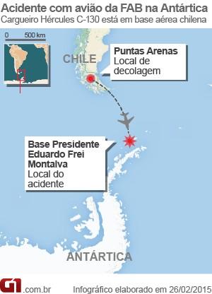 28/02/2015 - Hércules da FAB segue na Antártica três meses após pousar de barriga