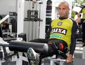 Ricardinho, atacante, figueirense, cft, treino, musculação (Foto: Luiz Henrique / Figueirense FC)