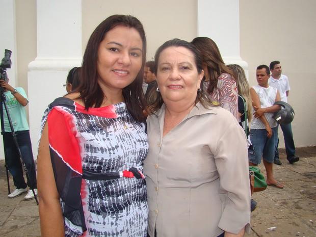 Vereadoras eleitas Celene (PT do B) e Teresina Medeiros (PPS)  (Foto: Gilcilene Araújo/G1)