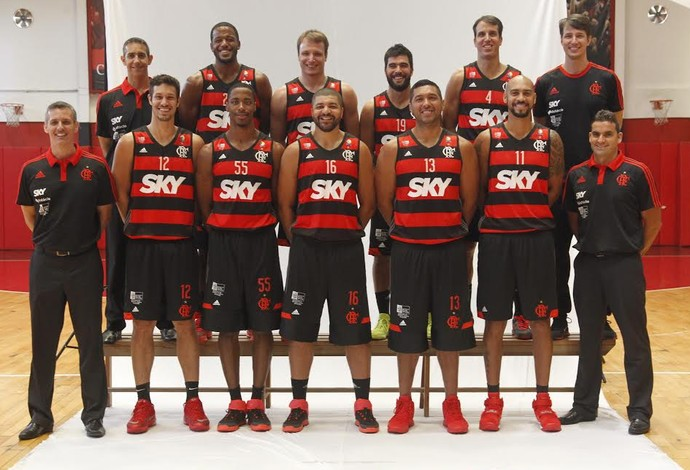 Equipe basquete Flamengo temporada 2015/16 NBB (Foto: Gilvan de Souza/ Flamengo)