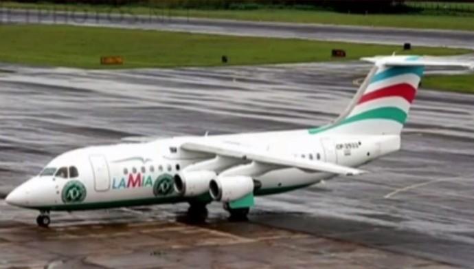 Avião Chapecoense Belo Horizonte (Foto: Reprodução/Twitter)