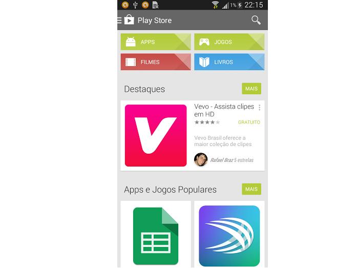 Acessando o Google Play (Foto: Reprodução/Google Play)