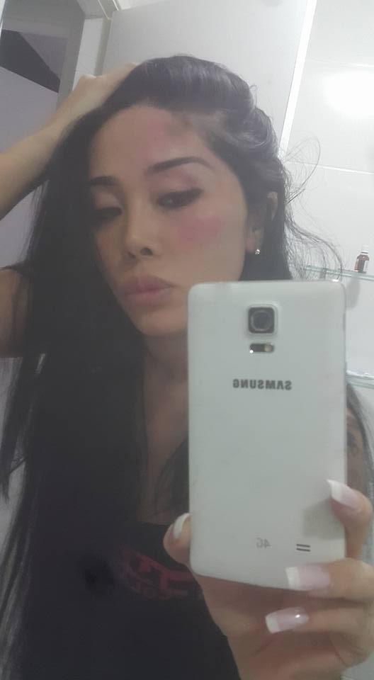 Natalia Inoue diz ter sido agredida (Foto: Facebook / Reprodução)