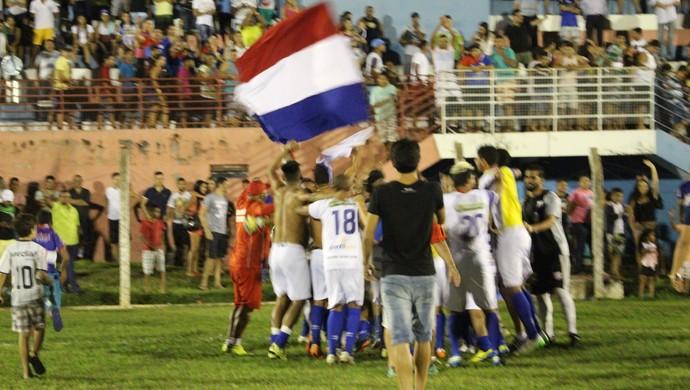 Comemoração Tocantins vai para final (Foto: Vilma Nascimento/GloboEsporte.com)