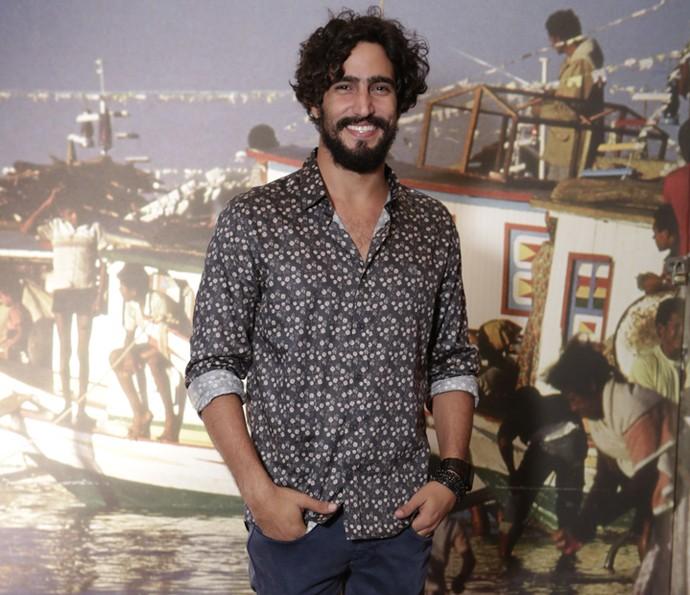 Renato Góes é só sorrisos  (Foto: Felipe Monteiro/Gshow )