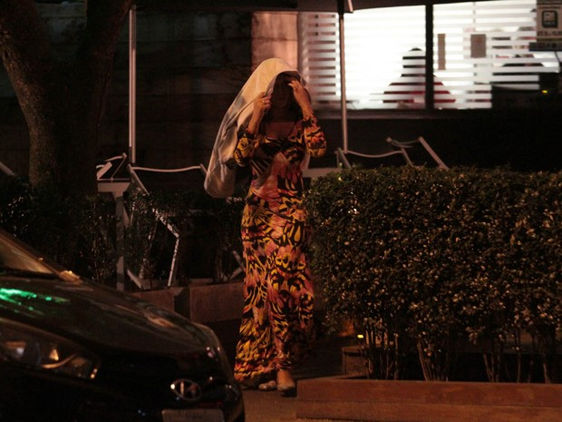Andressa Urach em restaurante em São Paulo (Foto: Orlando Oliveira/ Ag. News)