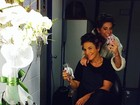 Ivete Sangalo e Fernanda Paes Leme posam de bobes nos cabelos