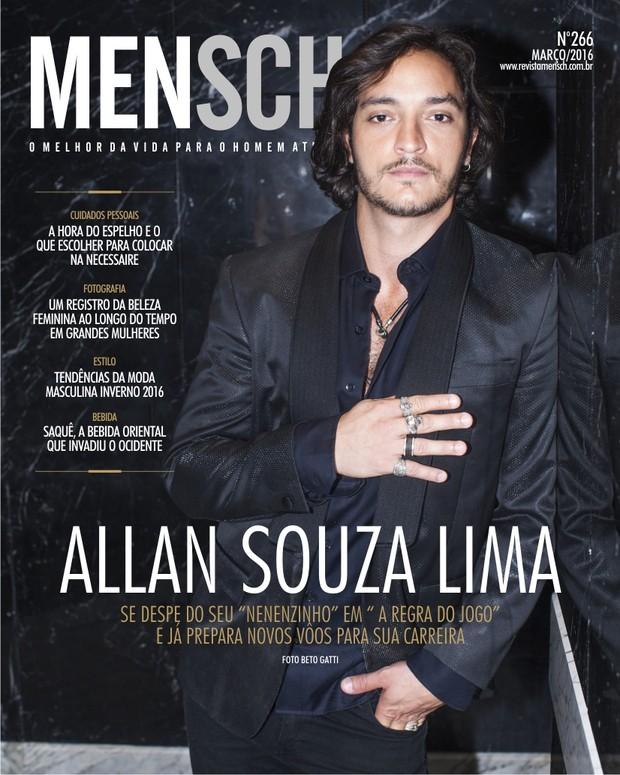 Allan Souza Lima na capa da Revista Mensch (Foto: Beto Gatti/Divulgação)