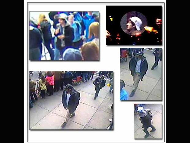 O FBI divulgou nesta quinta-feira (18) imagens de dois suspeitos de terem cometidos o ataque em Boston. (Foto: FBI/Divulgação)