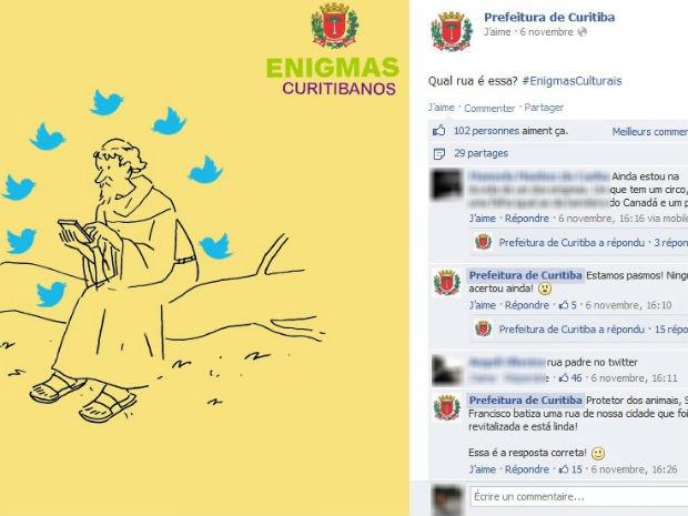 Enigmas sobre ruas da cidade movimentam o perfil no Facebook (Foto: Reprodução/ Facebook)