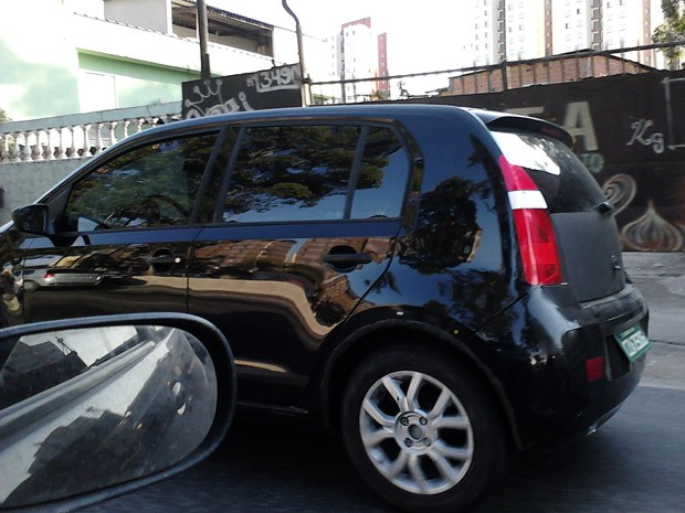 volkswagen up flagra (Foto: Andrea Cristina Figueiredo/vC no G1)