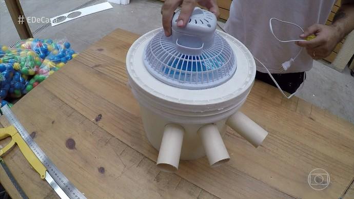 Para finalizar, coloque o ventilador. (Foto: TV Globo)