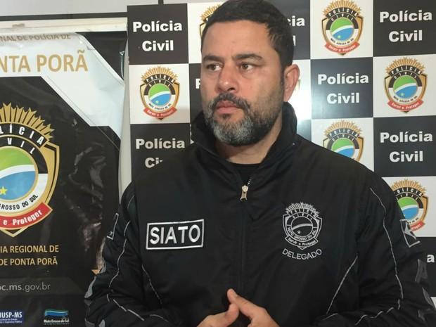 Delegado Jarlei Ponta Porã MS (Foto: Gabriela Pavão/ G1 MS)