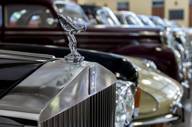 Relíquia: Rolls-Royce exposto na BOX 54, no interior de São Paulo (Foto: Rogério Albuquerque)