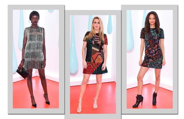 Da esquerda para a direita: Duckie Thot, Ellie Goulding e Malaika Firth apostam nos brilhos (Foto: Divulgação)