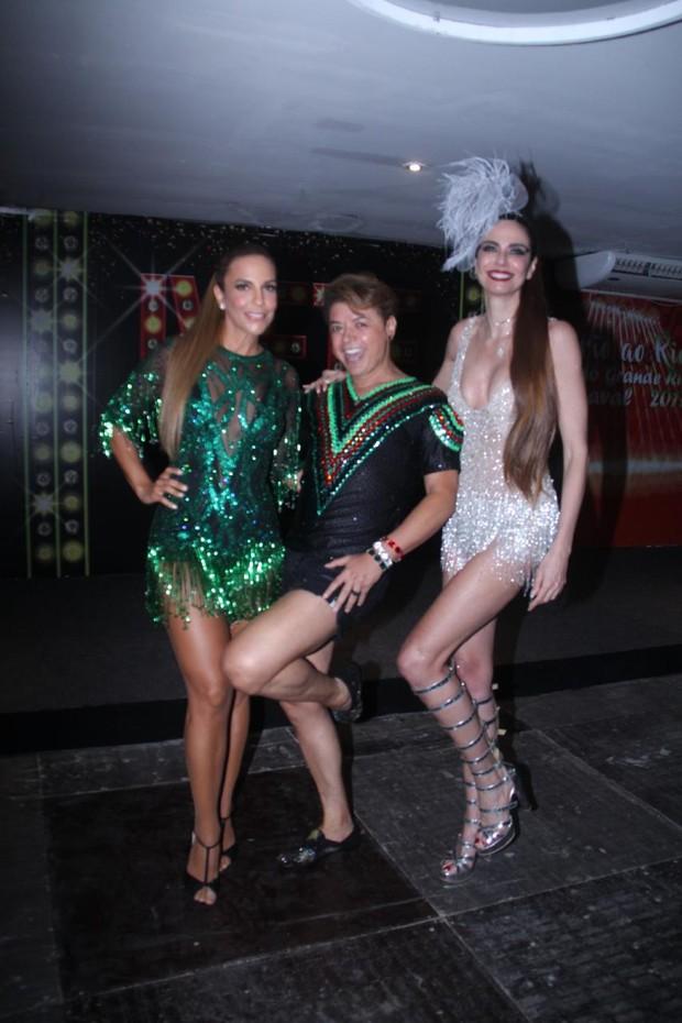 Ivete Sangalo, David Brazil e Luciana Gimenez (Foto: Rodrigo dos Anjos/AgNews )