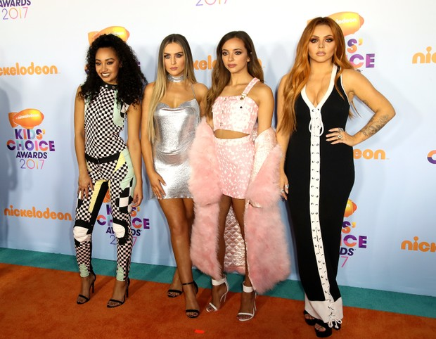 Leigh-Anne Pinnock, Perrie Edwards, Jesy Nelson, Jade Thirlwall, do Little Mix, no Kids Choice Awards (Foto: Getty Images)
