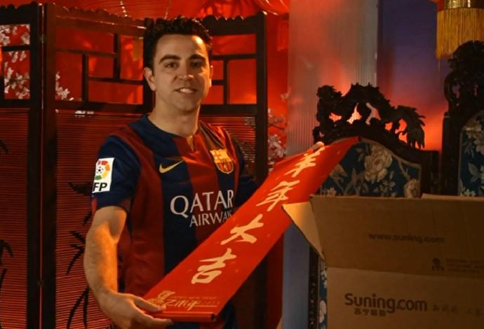 Xavi celebra ano novo chinÊs