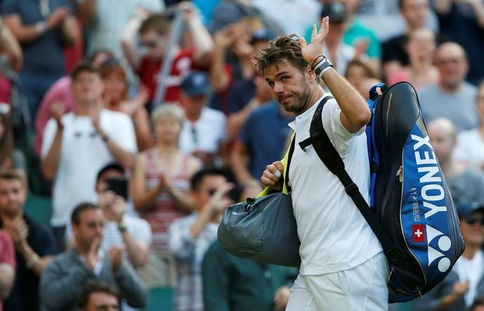 Stan Wawrinka se despediu do torneio de Wimbledon na primeira rodada (Foto:  REUTERS/Andrew Couldridge)