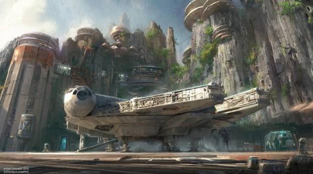 Ilustração de uma das áreas temáticas de 'Star Wars' nos parques da Disney (Foto: Estadão Conteúdo)