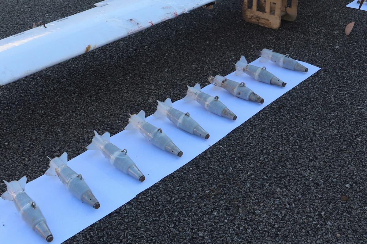 Bombas encontradas a bordo dos drones (Foto: reprodução)