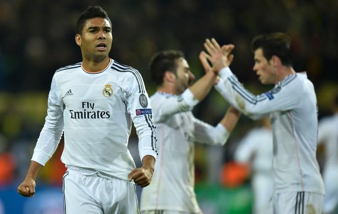 Casemiro, Borussia Dortmund x Real Madrid (Foto: AP)