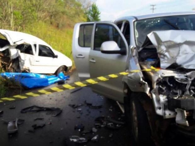 Acidente fatal aconteceu em Treze Tilias (Foto: Corpo de Bombeiros/Divulgação)