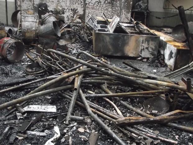 Pavilhão de escola no RS ficou totalmente destruído (Foto: Divulgação/ Prefeitura Eldorado do Sul)