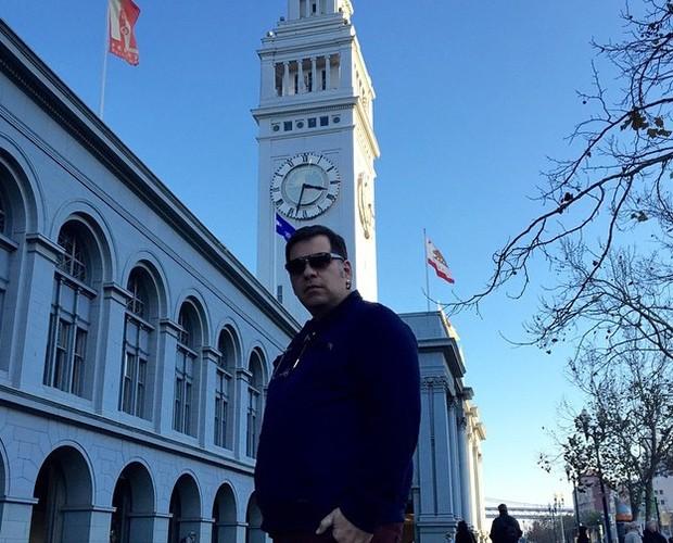 O comediante Leandro Hassum exibe boa forma nos Estados Unidos (Foto: Arquivo Pessoal)