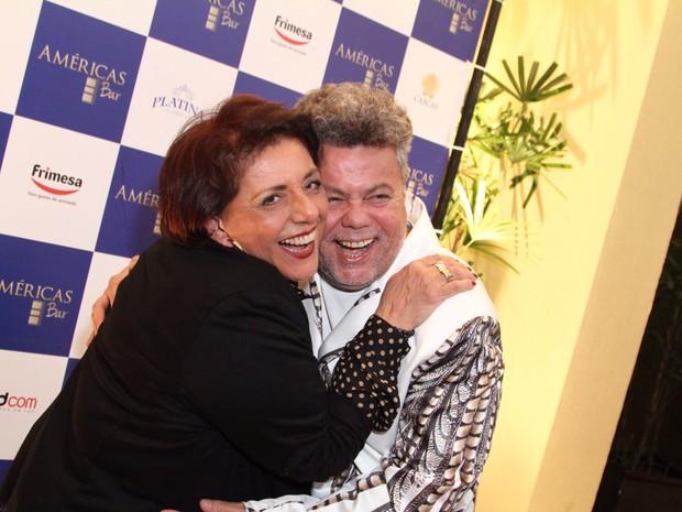Leda Nagle e Milton Cunha em evento no Rio (Foto: Anderson Borde/ Ag. News)