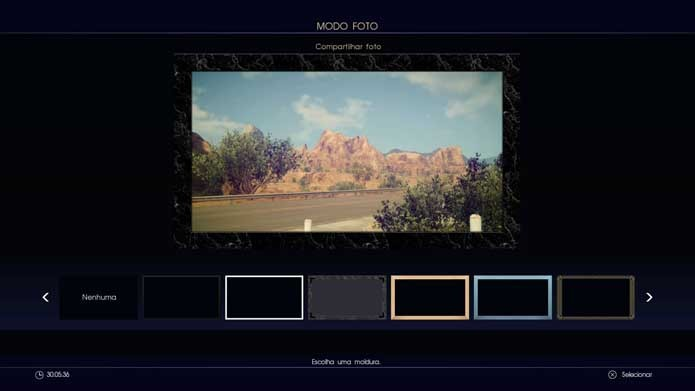 Adicione uma moldura às fotos de Final Fantasy XV (Foto: Reprodução/Murilo Molina)