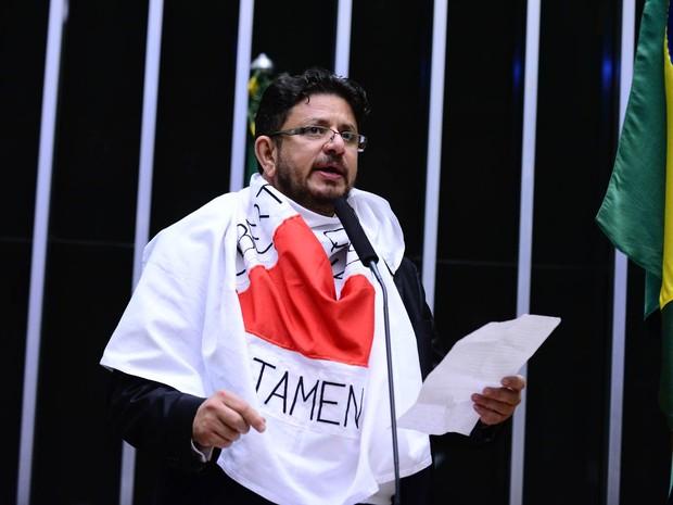 O deputado Fábio Ramalho (PMDB-MG) fala na sessão que discute o processo de impeachment na Câmara dos Deputados, em Brasília (Foto: Nilson Bastian/Câmara dos Deputados)