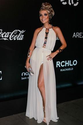 Luiza Possi em festa em São Paulo (Foto: Raphael Castello/ Ag. News)
