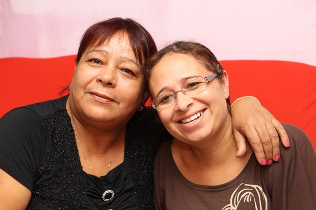 Facebook ajudou reencontro em Cubatão, no litoral de São Paulo (Foto: Alberto Marques/A Tribuna de Santos)