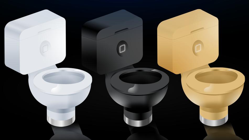 Brincadeira imagina como seriam os assentos sanitários da nova sede da Apple (Foto: Reprodução/Mashable)