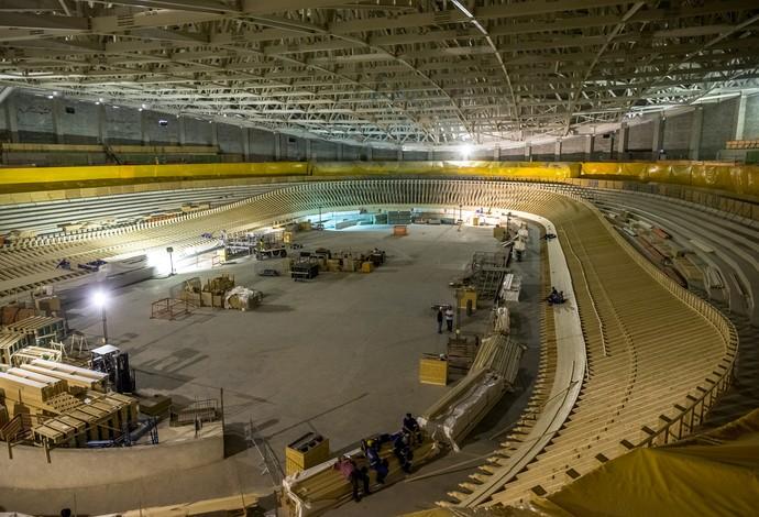Obras velódromo olímpico rio 2016 - abril  (Foto: Gabriel Heusi/Brasil2016.gov.br)