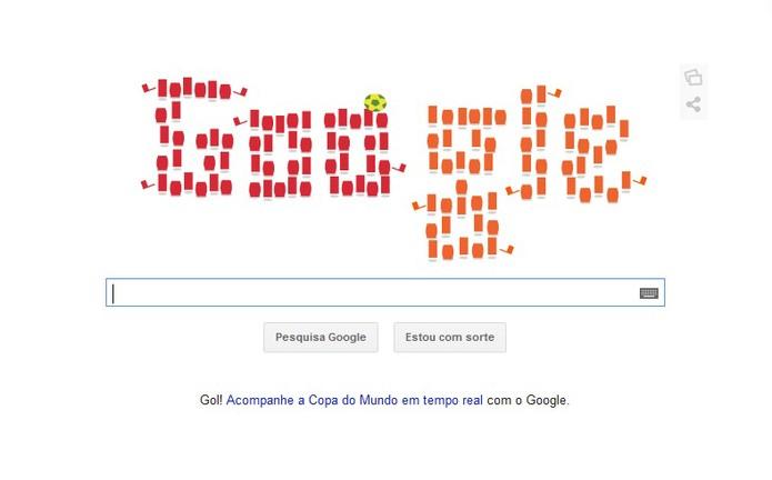 Doodle especial para a partida Espanha X Holanda entra no ar (Foto: Reprodução/Barbara Mannara)