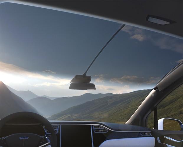 Para-brisa do Tesla Model X (Foto: Divulgação)