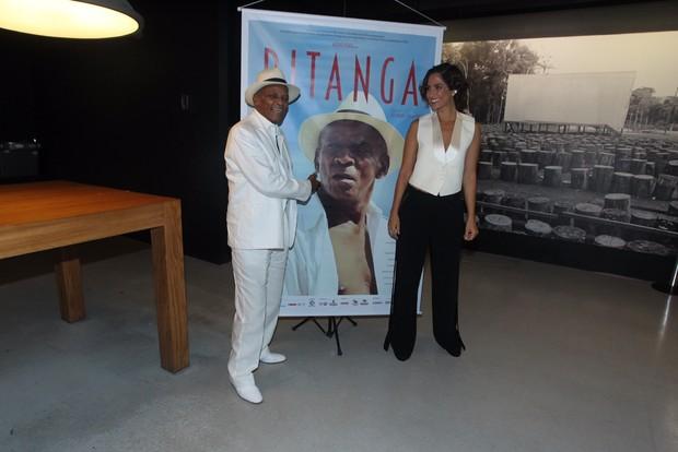 Camila Pitanga e Antônio Pitanga (Foto: Marcello Sá Barretto / AgNews)