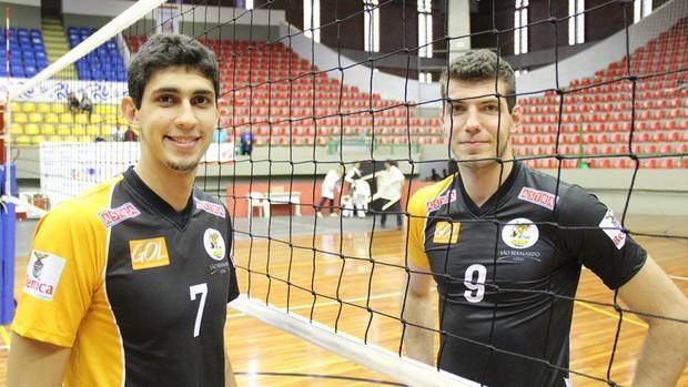 Jogos Abertos - Ricardo e Matheus - vôlei São Bernardo (Foto: Thiago Fidelix)